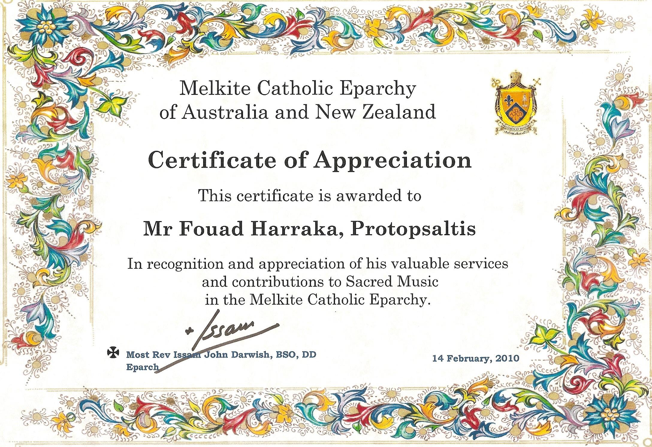 Certificate of appreciation dva choice image certificate design music certificate templates images templates example free download certificate of appreciation music images certificate design and yelopaper Choice Image